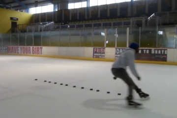 Figure of 8 Agility & Tight Turns Hockey Drill