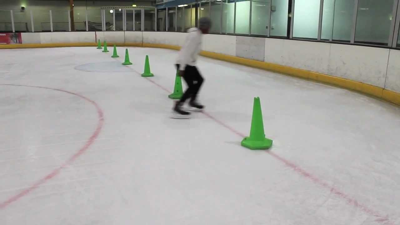 Backwards Crossover Ice Hockey And Power Skating Speed Agility Drill – Crossovers And Tight Turns