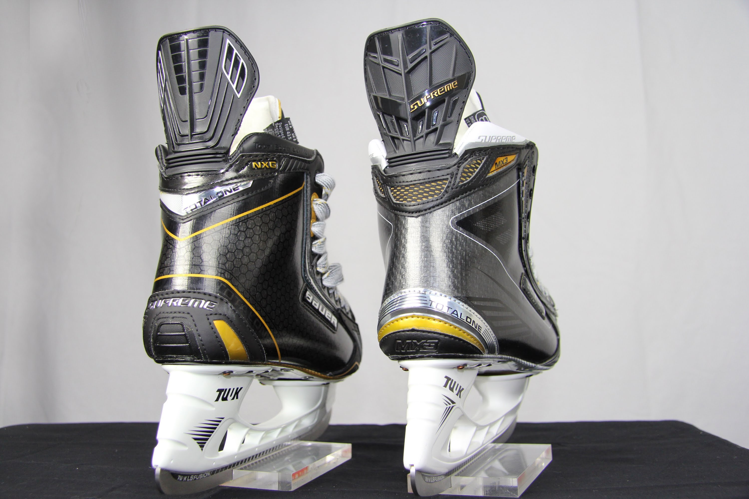 Bauer Supreme MX3 Skates vs Bauer Supreme Total One NXG Hockey Skates Compared