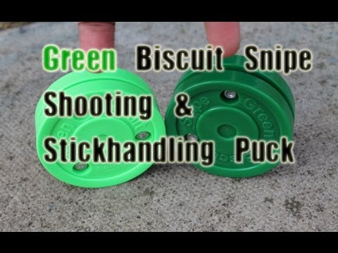 Brand New 2013 Green Biscuit Snipe off ice hockey stickhandling, passing and shooting! Puck