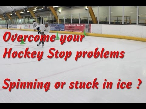 Every time I try to do a hockey stop on ice, I just do a really sharp turn or spin around in a circle?