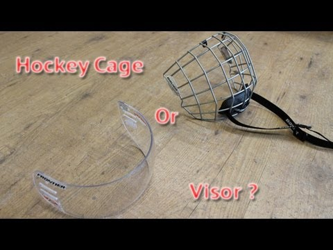 Hockey Cage or Visor – Full cage to half shield pros and cons good idea or bad idea