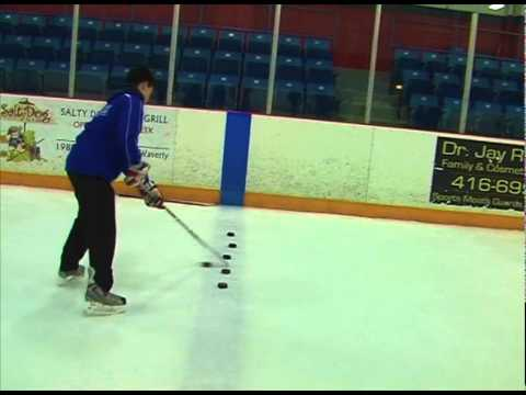 Hockey Drill – Stickhandling Drills (Passing, Toe Drag Stick handling and Shooting)