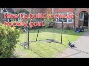 How to build or make a cheap hockey goal from home video for Cheap home building techniques