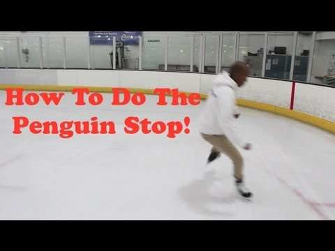 How To Do The Penguin Stop On Ice – Freestyle Ice Skating Stop