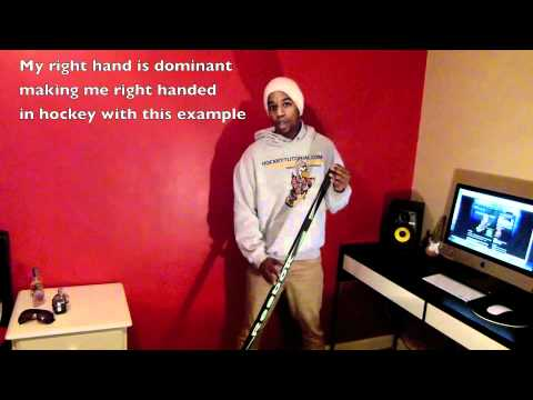 How to hold a hockey stick and decide what hockey stick to use – left or right handed ?