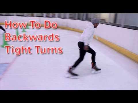 How to perform backwards tight turns in hockey – learn backwards power turns ice skating tutorials