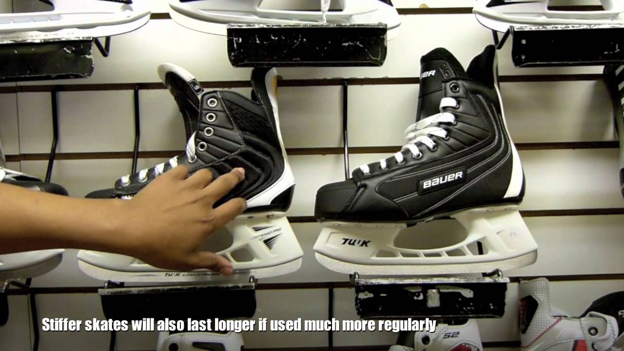 How To Select Your First Pair Of Ice Hockey Skates For Beginners (Skate stiffness)