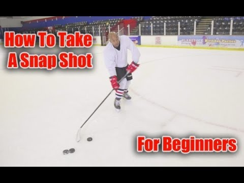 How to take a snap shot in hockey for beginners