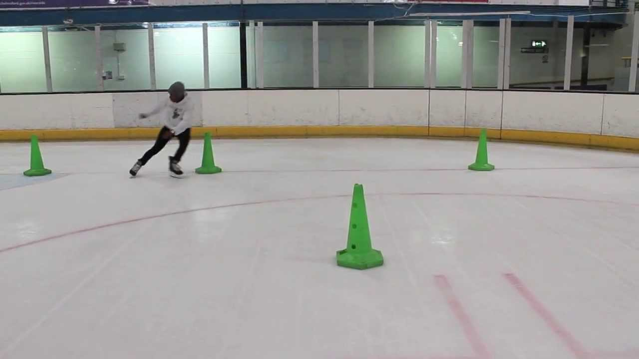 Ice Hockey Power Skating Speed Agility and Balance Drill – Pivot, Crossovers, Mohawk and Tight Turns