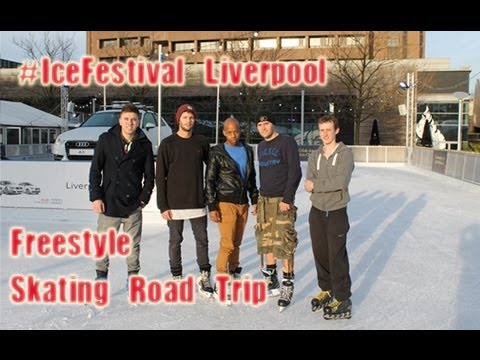 UK Road Trip Ice Box #IceFestival Liverpool One Outdoor rink- Meet Up Telford's Freestyle Skaters