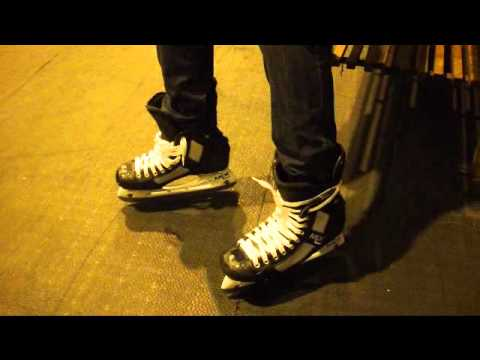 Why Not To Wrap or Tie Laces Round Back Of Ice Hockey Skates Tutorial
