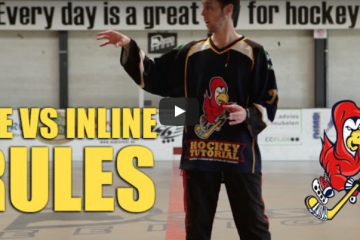 difference between ice and inline or roller hockey rules