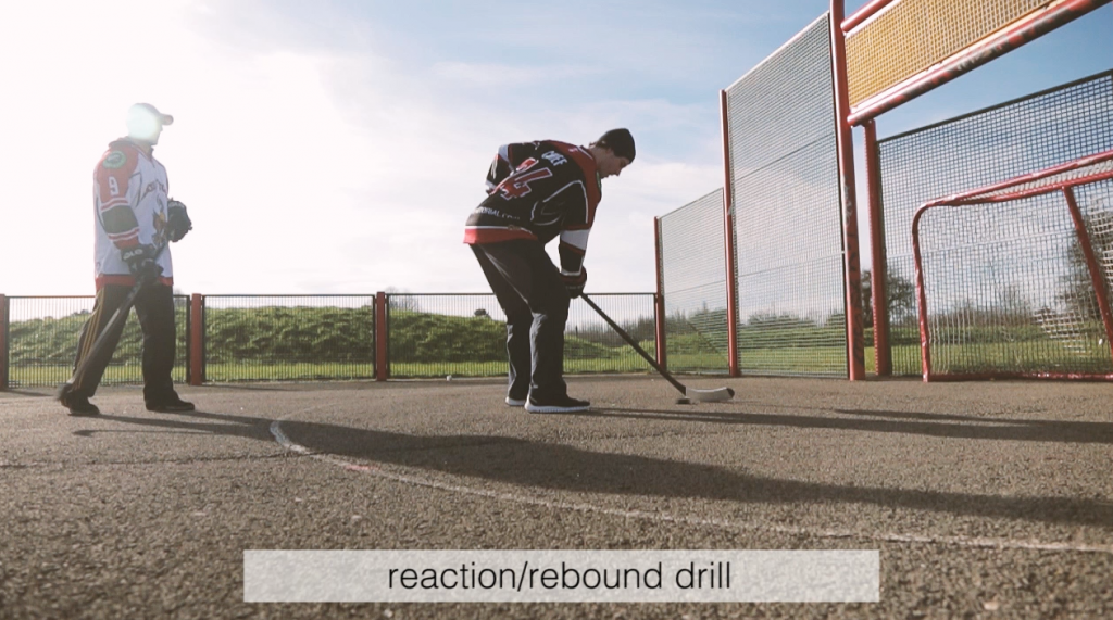 the best off ice shooting drills with hockey wrap around reactoin rebound drill