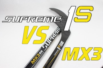 Bauer supreme 1s vs MX3 hockey sticks