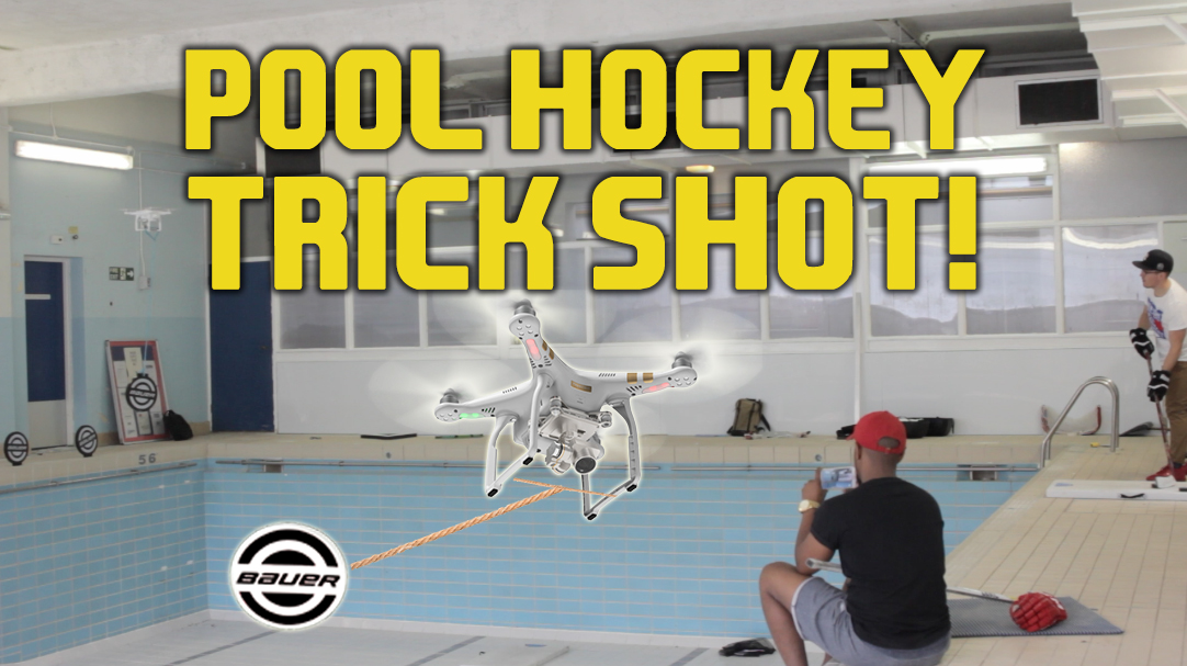 Hockey trick shot in a closed swimming pool hockey tutorial - Awesome swimming pool trick shots ...