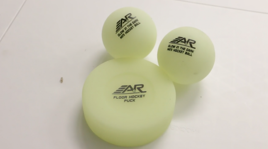 A&R Glow in the dark balls and pucks