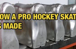 how a pro hockey skate is made in canada
