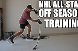 Hockey player Off Season Training With an NHL All-Star