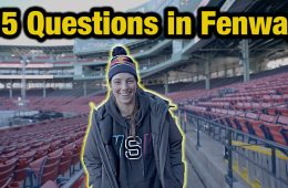 Questions with Hilary Knight in Fenway Park at Red Bull