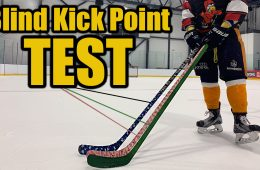 blind hockey stick kick point test